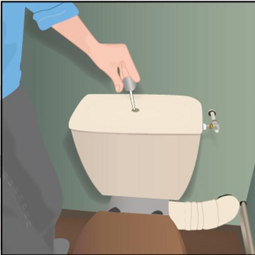 Comment réparer une fuite à l'extérieur du réservoir du WC ?
